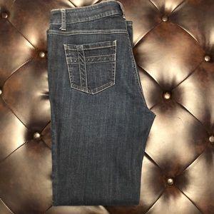 Cabi Women's jeans cross back pockets size 10 EUC